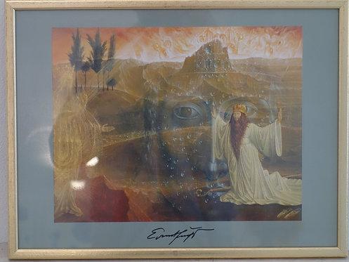 B165 - Ernst Fuchs, Moses vor dem brennenden Dornbusch