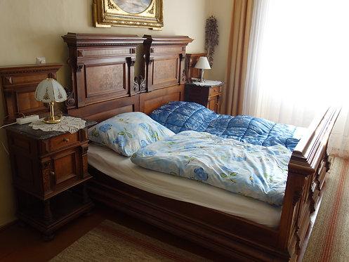 AK187 Doppelbett Historismus 2 Stk. Betten antik mit Schnitzwerk