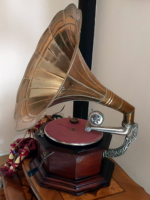 "HO07 Trichtergrammophon ""His Masters Voice"""