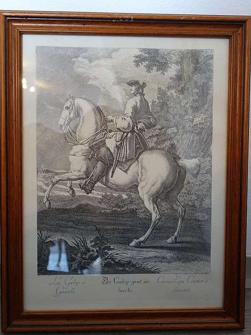 BK168 Original Radierungen Pferde Parada pedetentem pro Giedientis ad Finistr