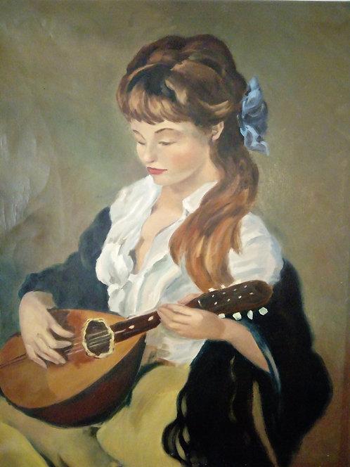 B40 - Mädchen mit Violine