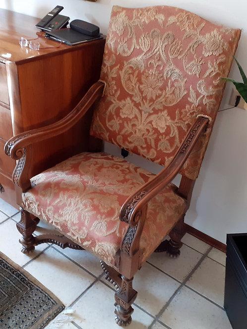 HO01 2 Sessel Holz / Stoff Originalbezug