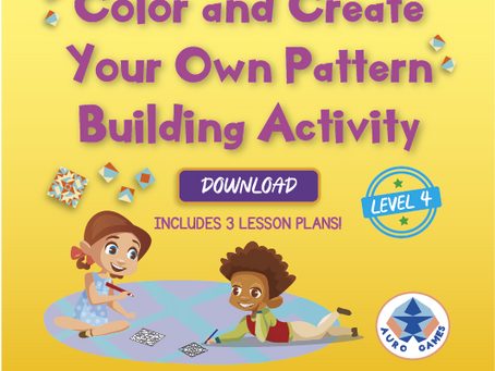 Level 4 - Color and Create Your Own Pattern Building Activity