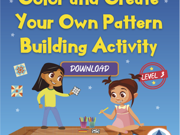 Level 3 - Color and Create Your Own Pattern building Activity