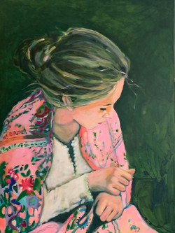 Girl with the Pink Scarf