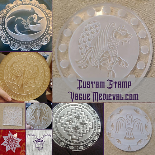 Custom Stamp for Fabric/Leather/Clay/Soap