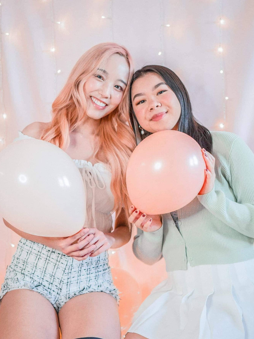 SPRING '21 RUSH - PEACH PLEASE: Omega Class Whitney Chuong and Sydney Nguyen