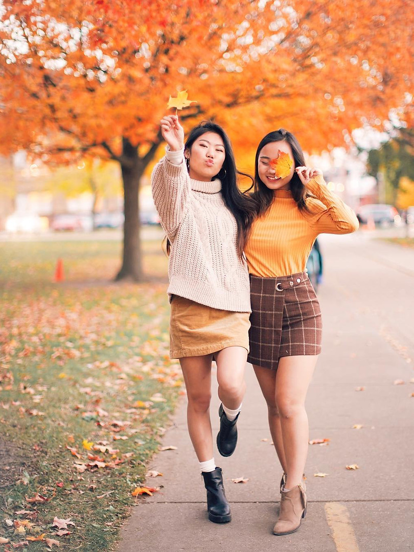 FALL IN CHAMPAIGN: Katie Liu and Gina Groesbeck