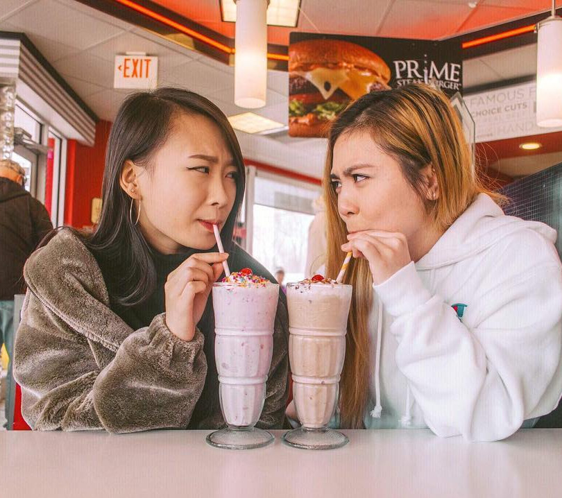 SPRING 2019 RUSH CHERRY ON TOP: Phi Class Angela Wu and Rebecca Chan