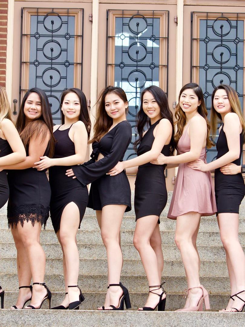 PI CLASS: Rebecca Tu, Chelsea Tuvilla, Ann Wang, Shu Wang, Caroline Choi, Christina Wong, Rayray Tsai and Gloria Zhang