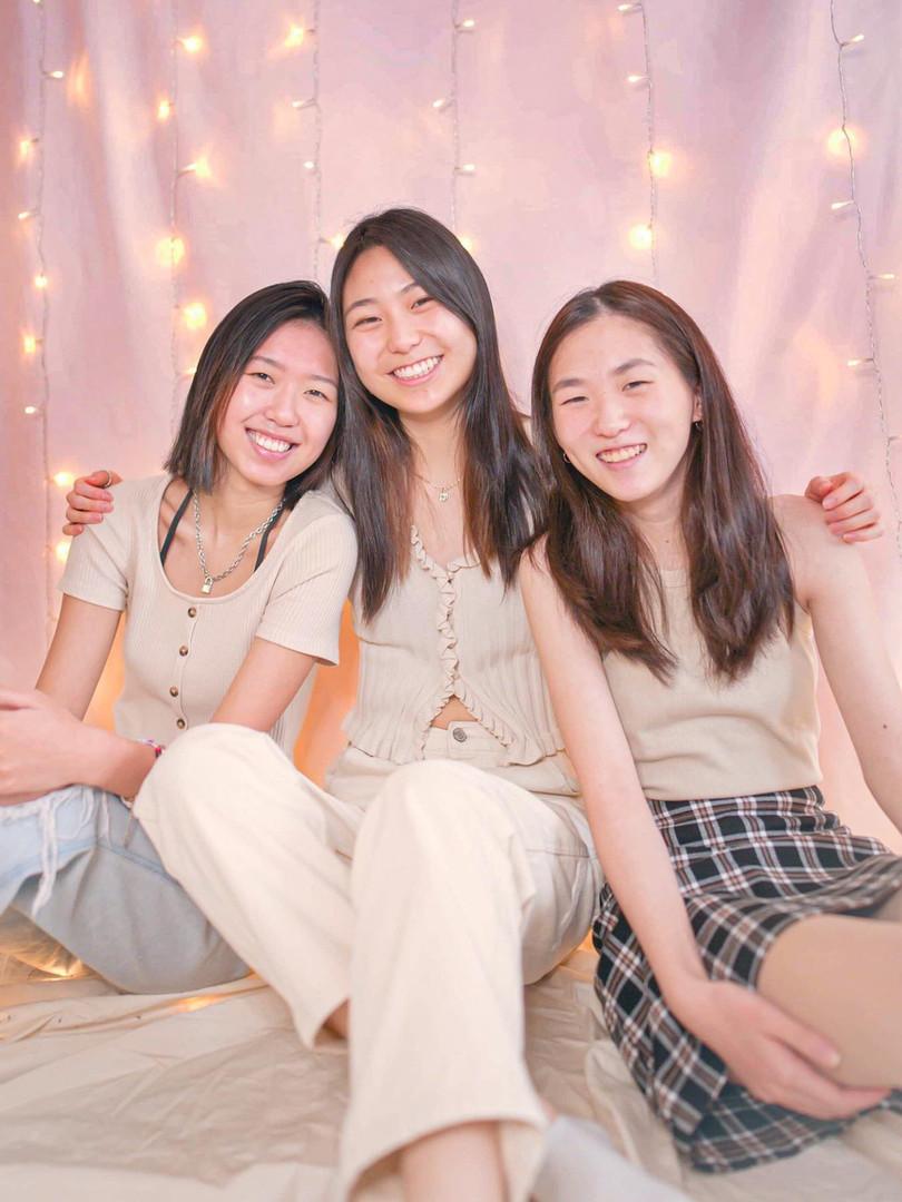ALPHA ALPHA CLASS: Rose Wang, Kristine Xie, and Katherine Kim