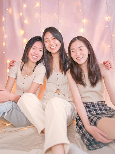 ALPHA ALPHA CLASS: Rose Wang, Kristine Xie, and Katherine Kim