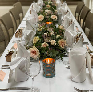 Beautiful crisp table linens