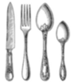 30537349-vintage-silverware-knife-fork-a