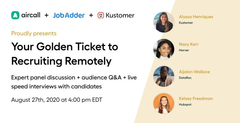 Your Golden Ticket To Recruiting Remotely
