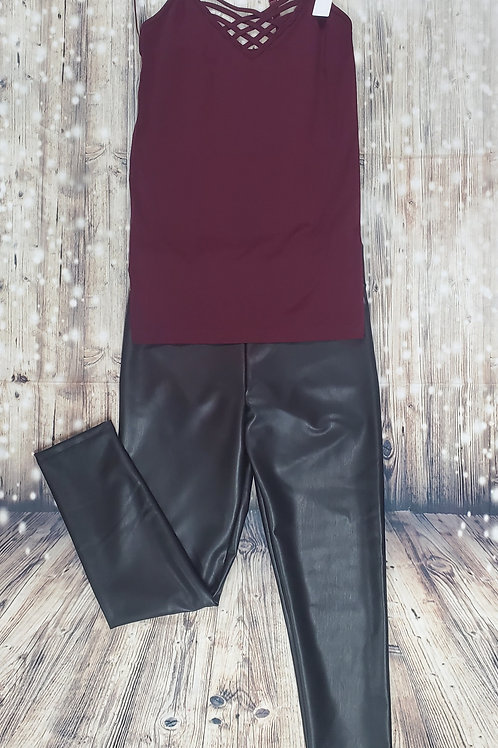 Black Leather (like) leggings