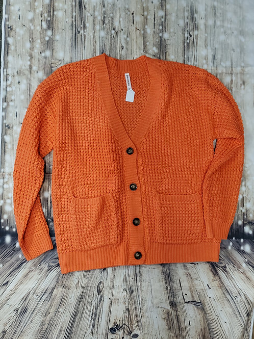 Coral Cable Knit Cardigan