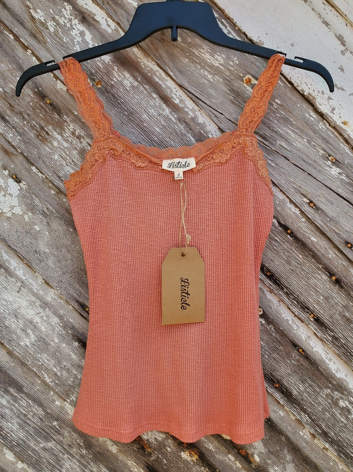 Clay Lace Tank Top