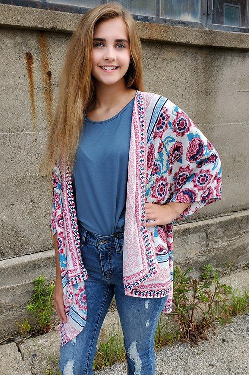 Blue Combo Kimono