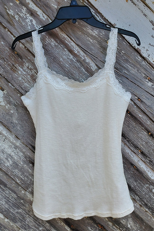 Ivory Lace Tank Top