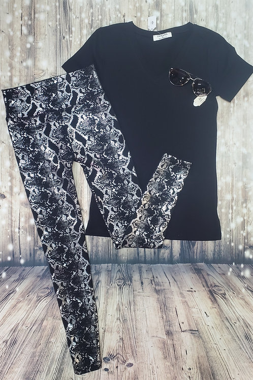 Fleece Snake Shimmer Leggings