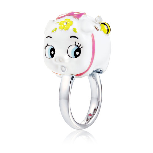 SNOWBALL PIGGY BANK RING