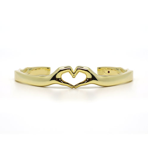 BRASS LO-VE BANGLE
