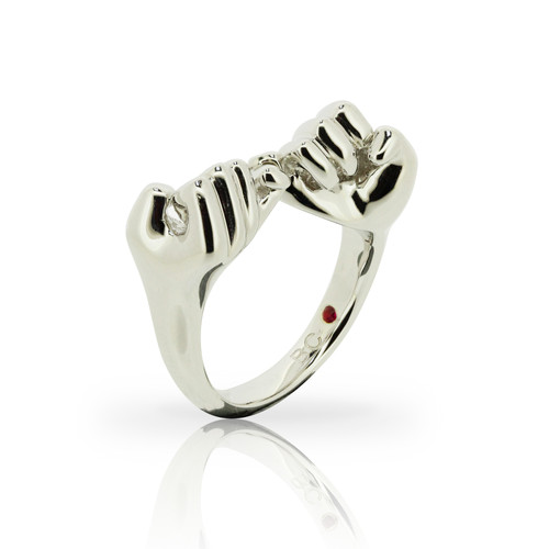 ring silver promise gold bcjoaillerie rings love collection plated file pinky ollection