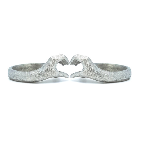 GOLD PLATED SILVER LO_VE RINGS