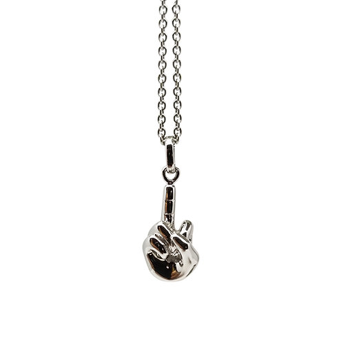 FINGER SPEAKS SLIVER PENDANT (without chain)