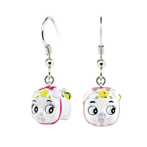 SNOWBALL BABY PIGGY EARRINGS