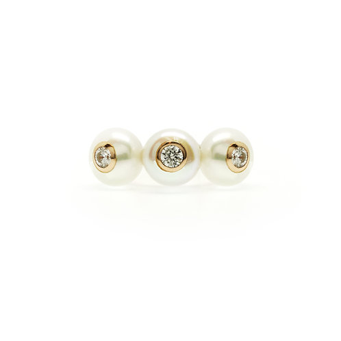 CUBIC ZIRCONIA FRESHWATER PEARL RING BCMO37RIRG