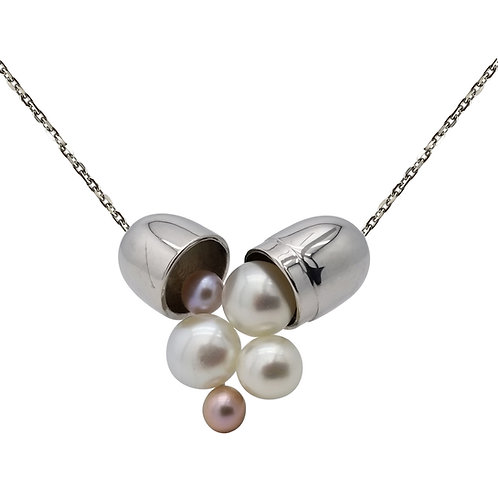 LOVE IS A DRUG FRESHWATER PEARL GOLD PLATED SILVER NECKLACE BCLC92NEWG