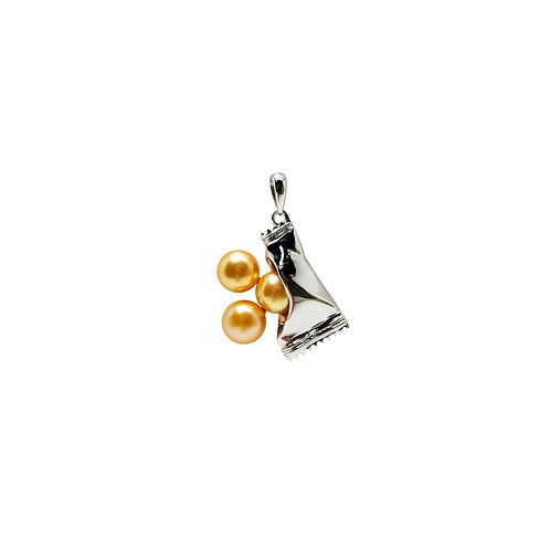 FRESHWATER PEARL GOLD PLATED SILVER PENDANT BCSS65PEWG-YP