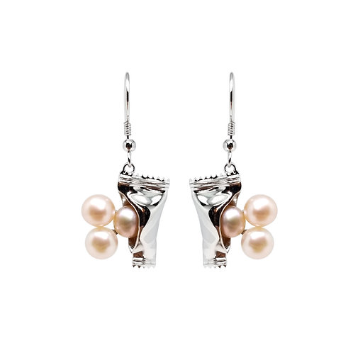 FRESHWATER PEARL GOLD PLATED EARRINGS BCSS64ERWG-PP