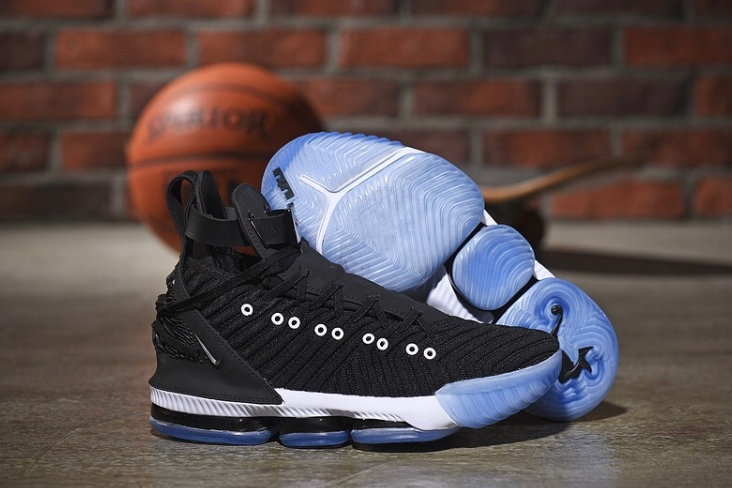 cozy fresh 93cb9 283ba Mens Nike Lebron 16 HFR Harlem's Black White Basketball Shoes