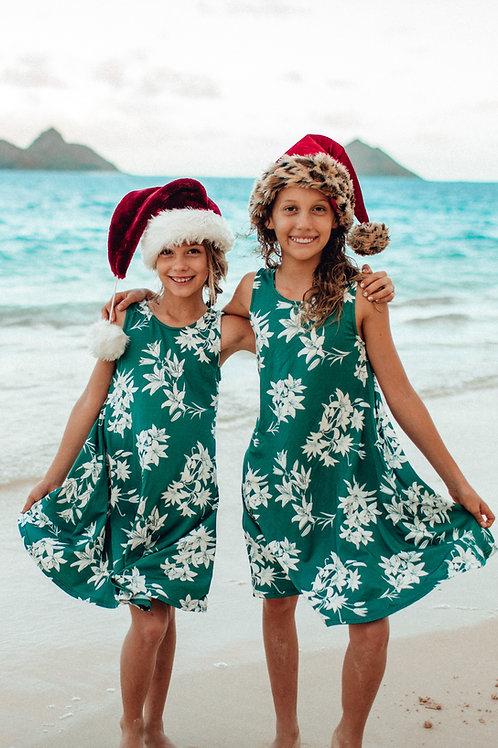 Kimi Dress (Keiki) in Emerald Lily