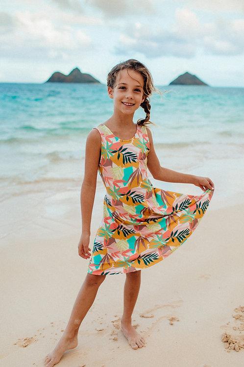 Kimi Dress (Keiki) in Coco Cabana