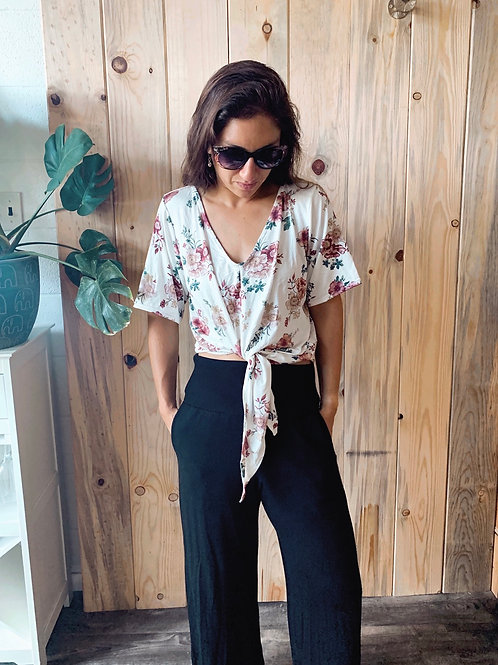 Kahala Top in 50's Floral (S/S)