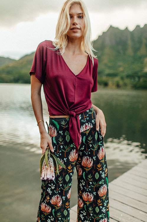 Kahala Top in Ruby