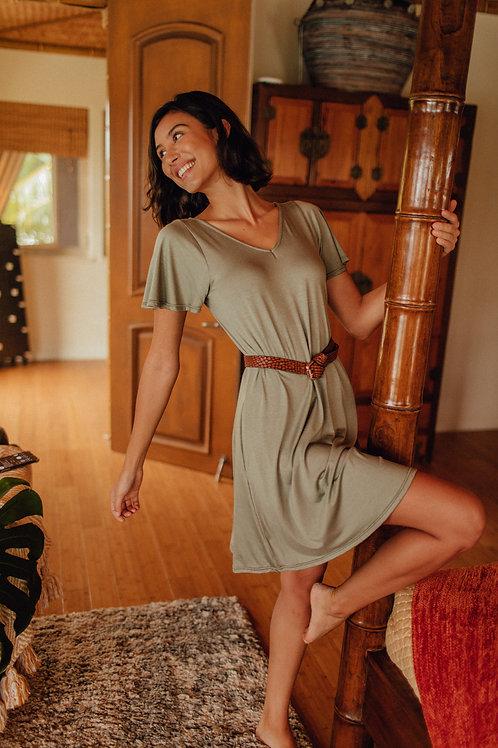 Elodie Dress in Sage