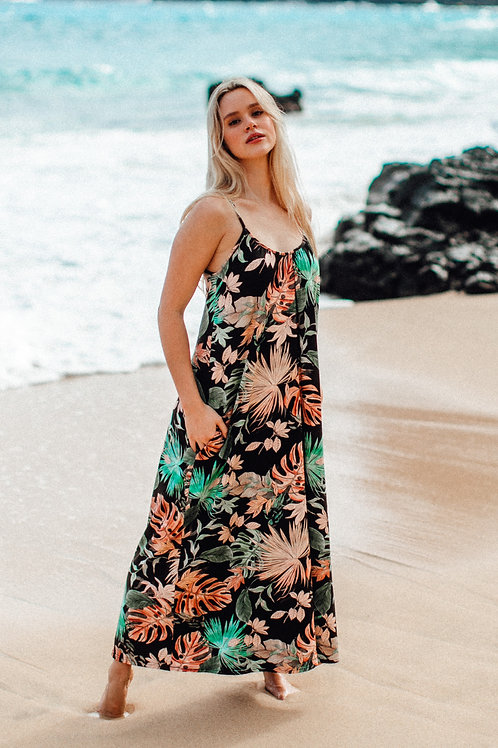 Janica Maxi Dress in Deep Forest