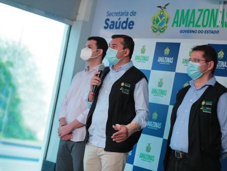 Saullo Vianna participa da abertura do Hospital Nilton Lins que vai atender pacientes com Covid