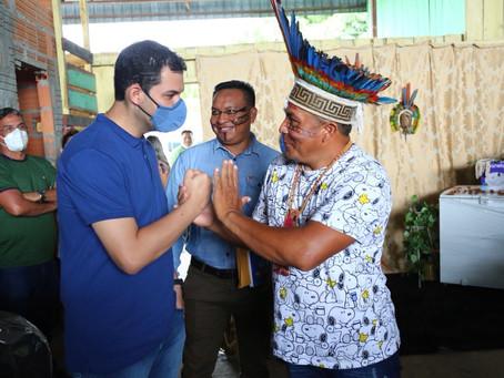 Em Nhamundá,deputado anuncia emendas para produção rural e participa de programação no Dia do Índio