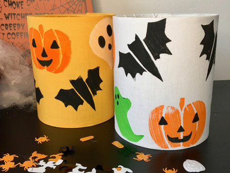 Halloween printed lantern kit DIY tutorial with FREE PDF templates