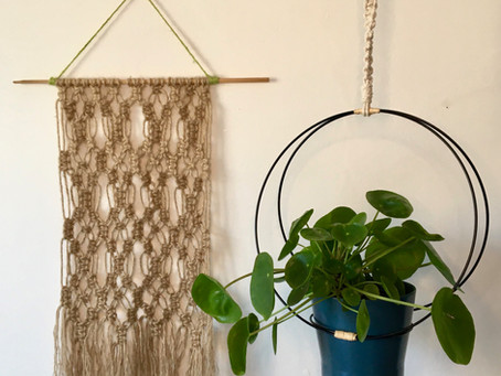 DIY Contemporary Plant Hanger tutorial