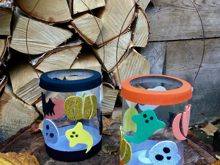 DIY kid's Halloween lantern with FREE PDF templates