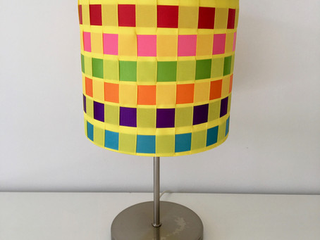 Lampshade kit hack #2 - Rainbow Ribbon shade
