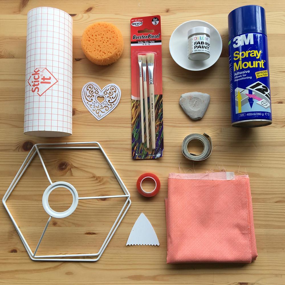 DIY Lampshade tutorial - printing a heart motif - Step 1