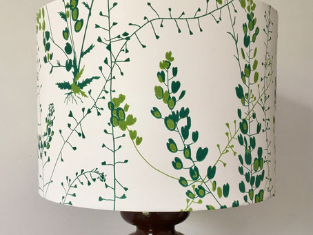 Lampshade Kit Hack #3 – Making a wallpaper lampshade